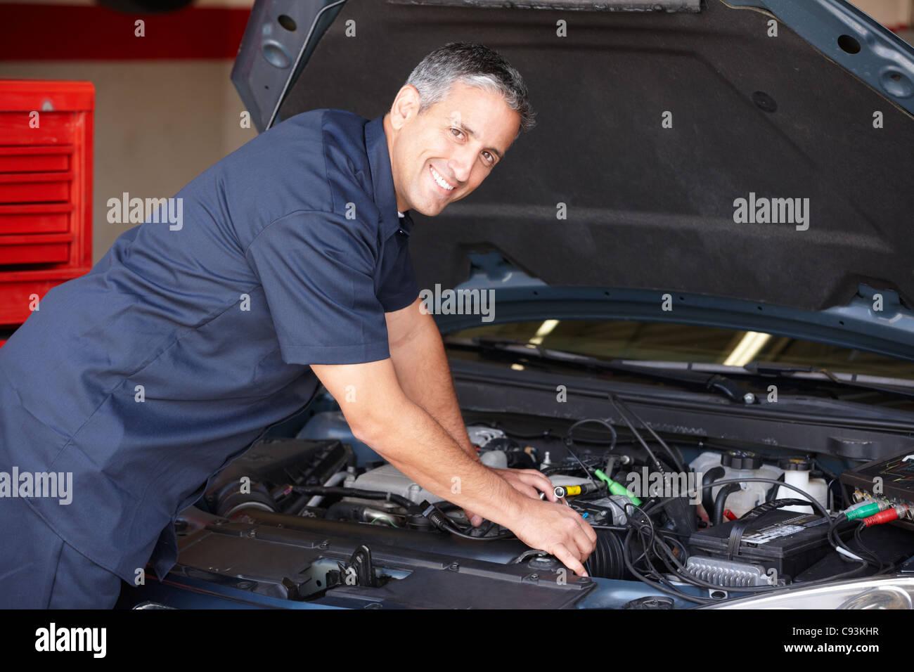 Mechanic at work - Stock Image