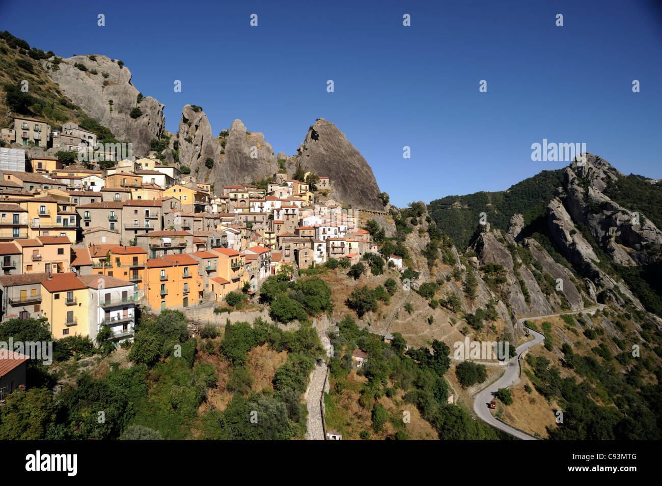italy, basilicata, dolomiti lucane regional park, castelmezzano Stock Photo