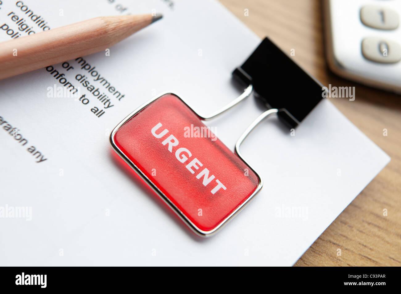 Urgent document Stock Photo