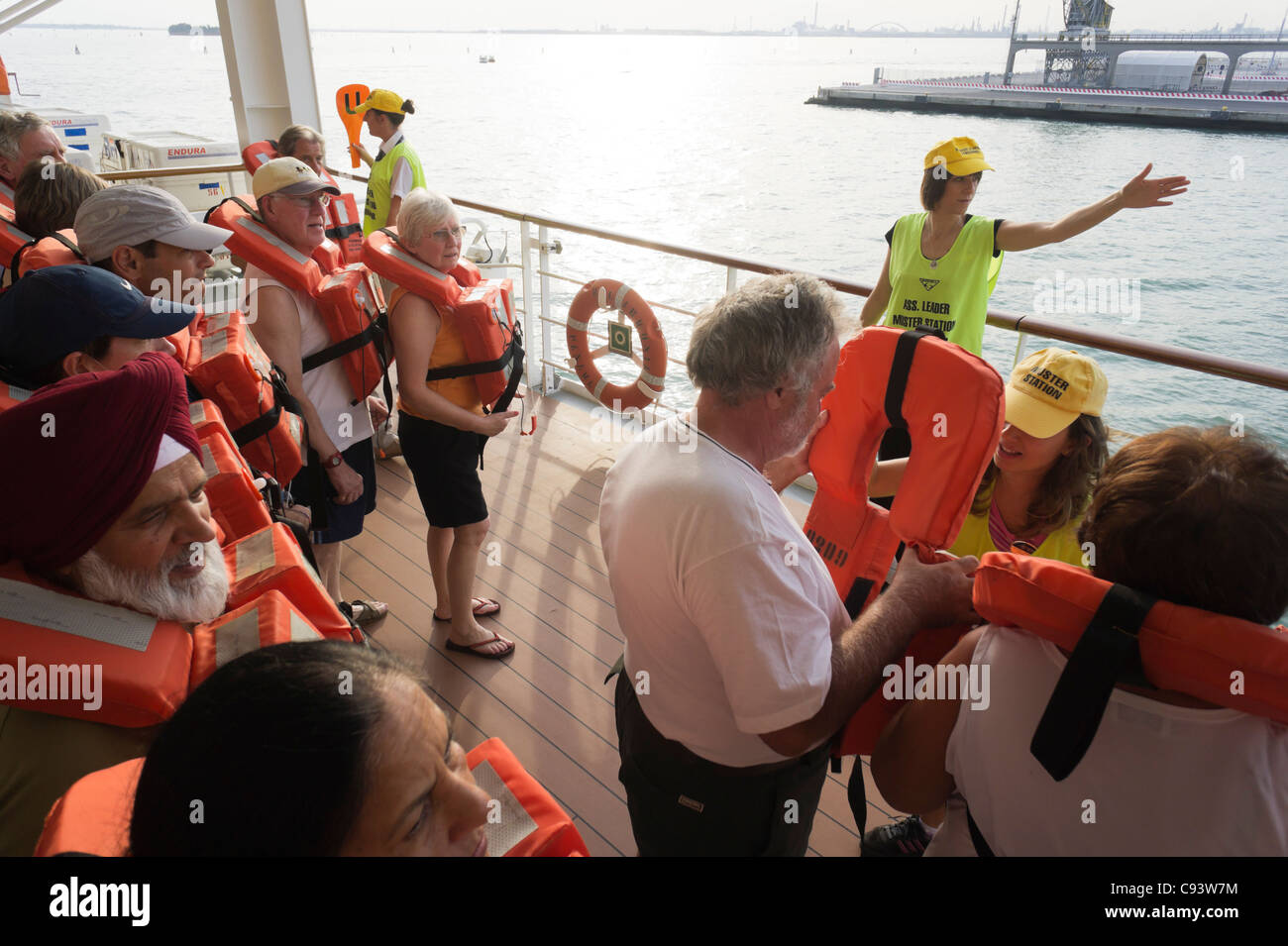 MSC Armonia cruise ship - Life Jacket Safety Drill on first