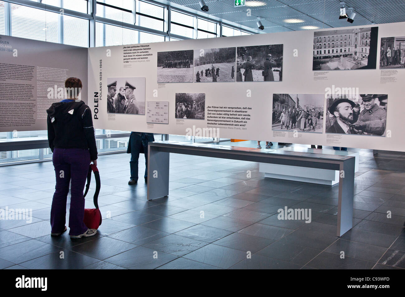 The Exhibition Hall and Document Centre at the Topography of Terror Museum on site of former Nazi Gestapo HQ, Berlin, - Stock Image