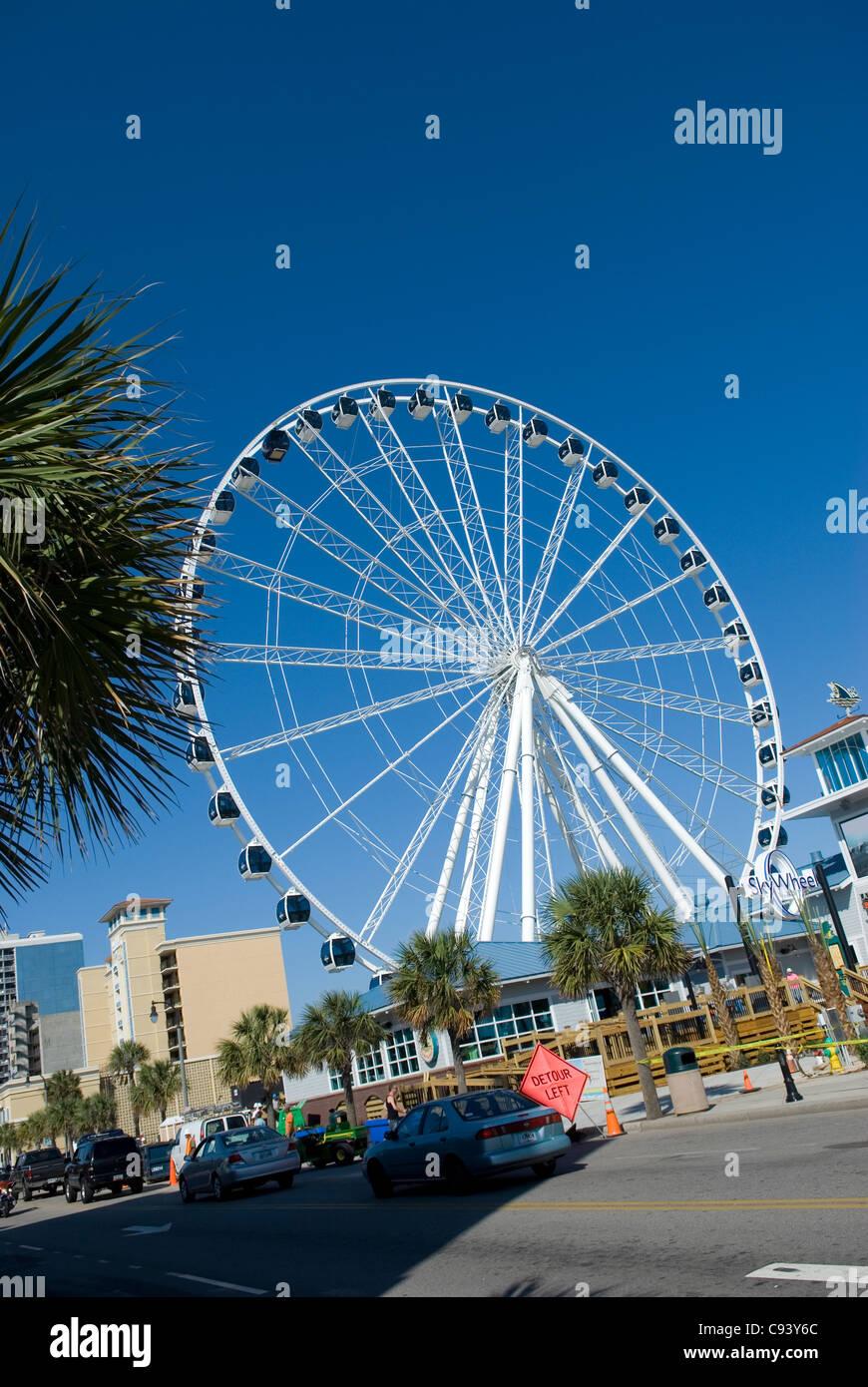 Sky wheel Myrtle Beach South Carolina USA - Stock Image