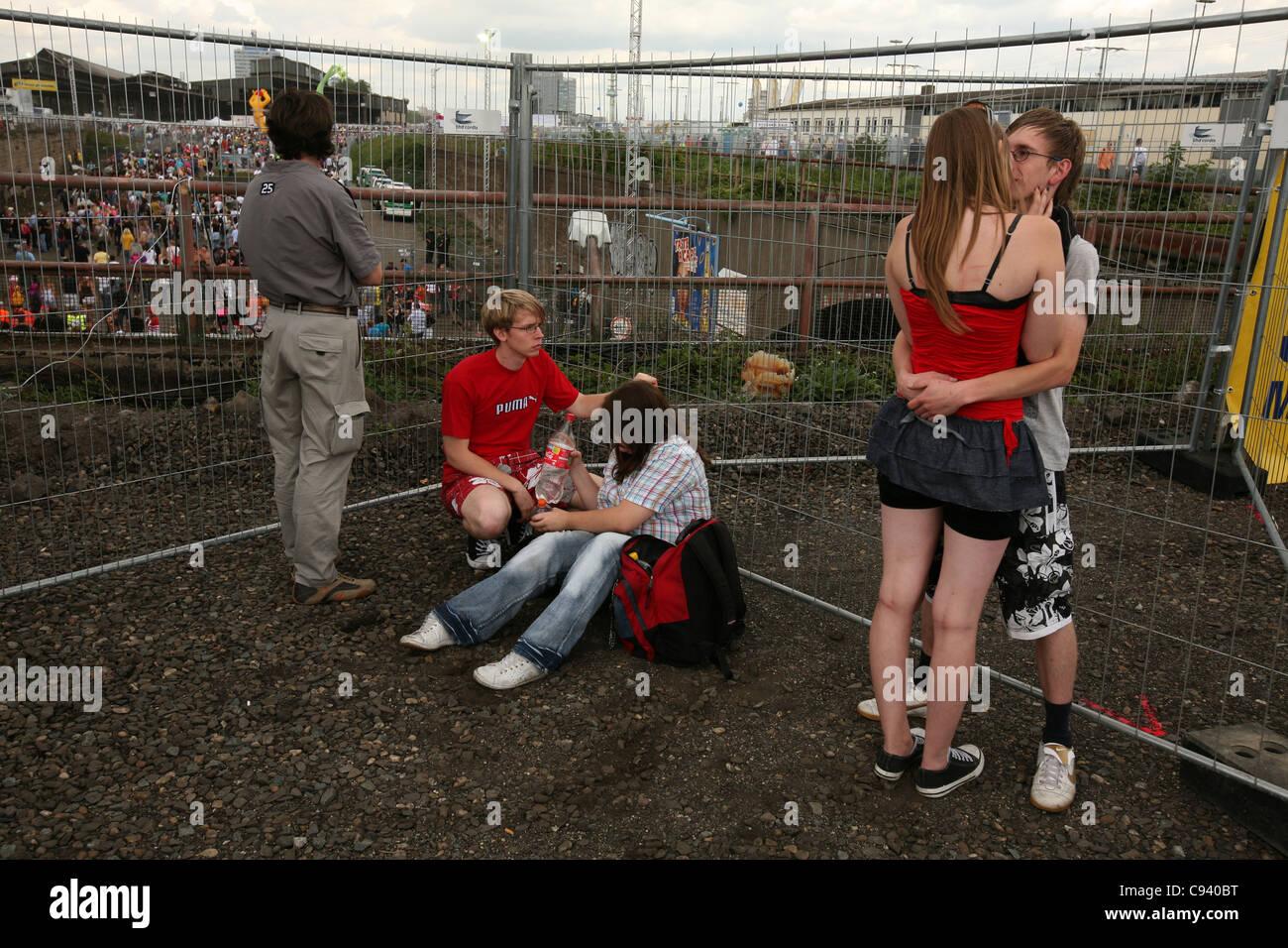 Love Parade 2010 in Duisburg, North Rhine-Westphalia, Germany. - Stock Image