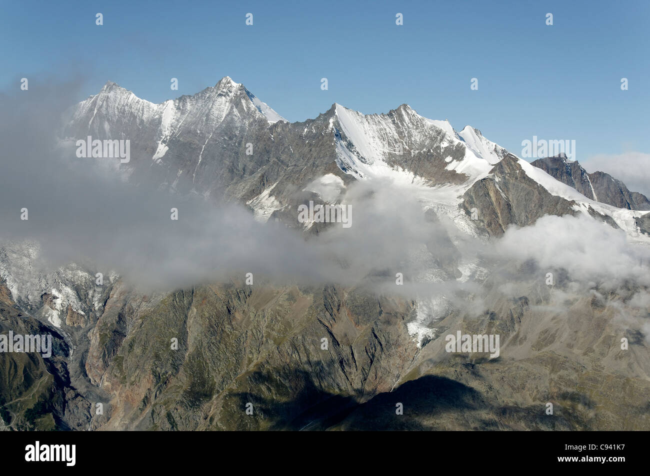 The Nadelgrat from the Weissmies Stock Photo