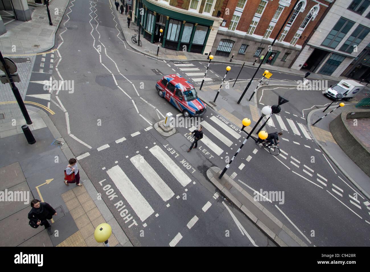 Zebra Crossing Or Pedestrian Crossing Central London Stock