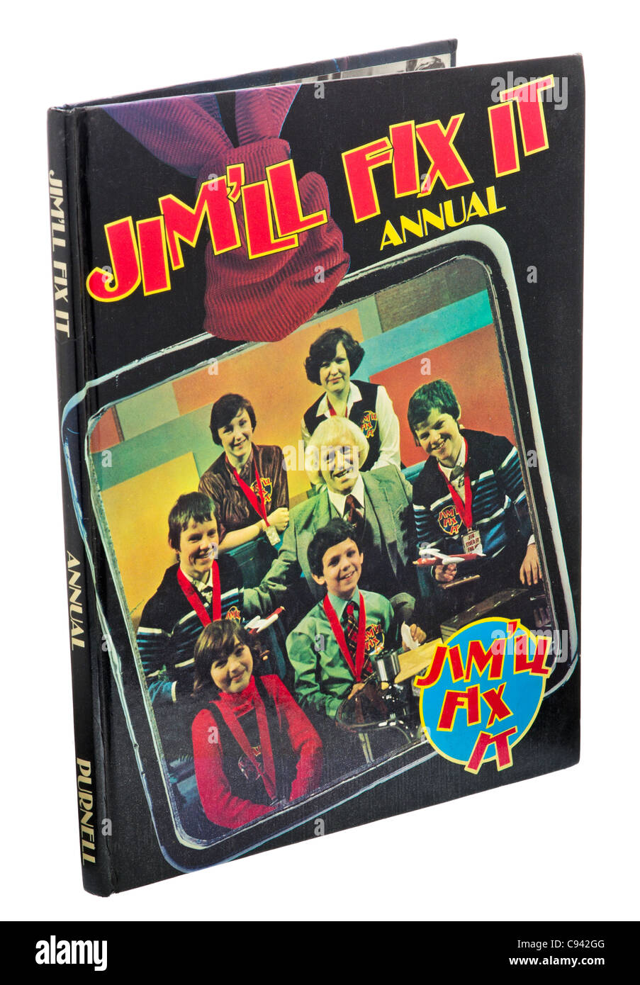 Jimmy Savile - Jim'll Fix It Annual from 1980. - Stock Image