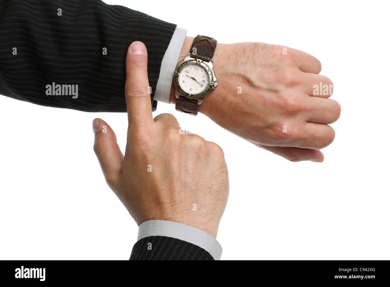 Checking the time - Stock Image