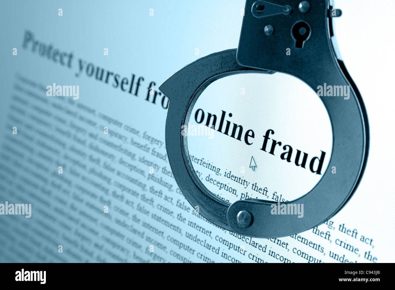 Online Fraud - Stock Image