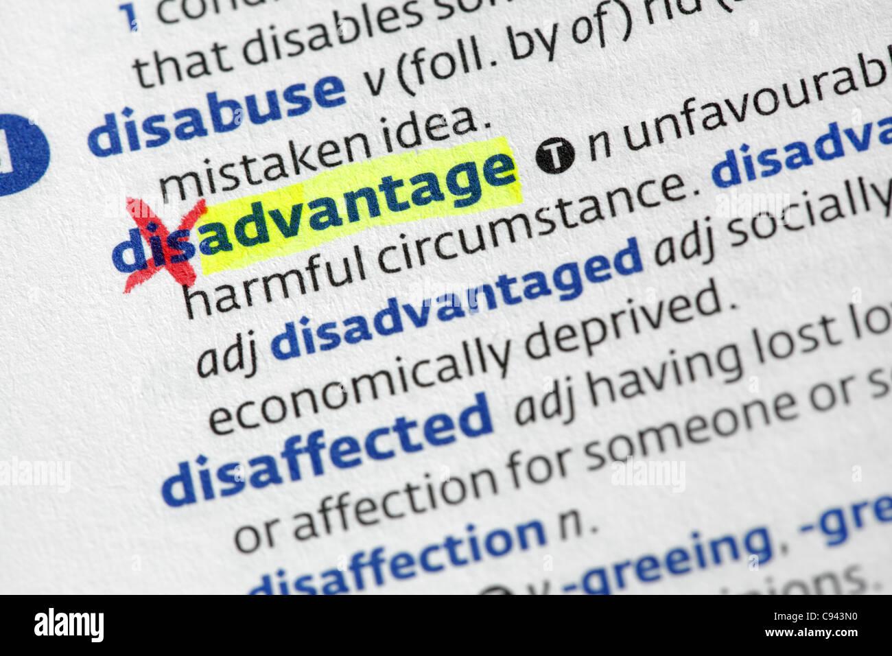 Advantage from disadvantage - Stock Image