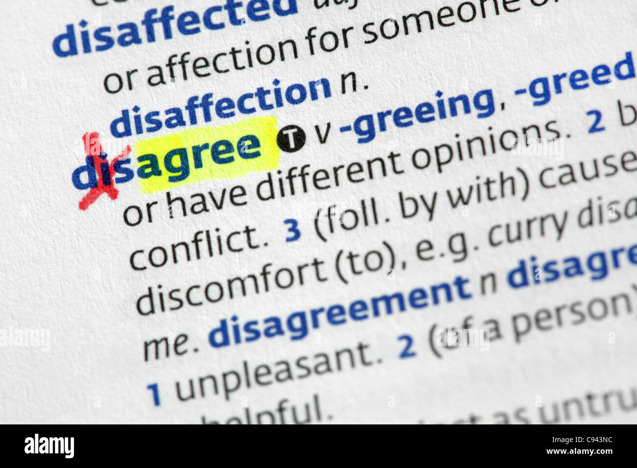 Agreement from disagreement - Stock Image