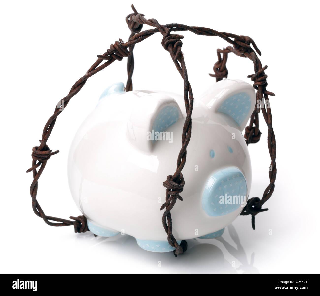 Protect your savings - Stock Image