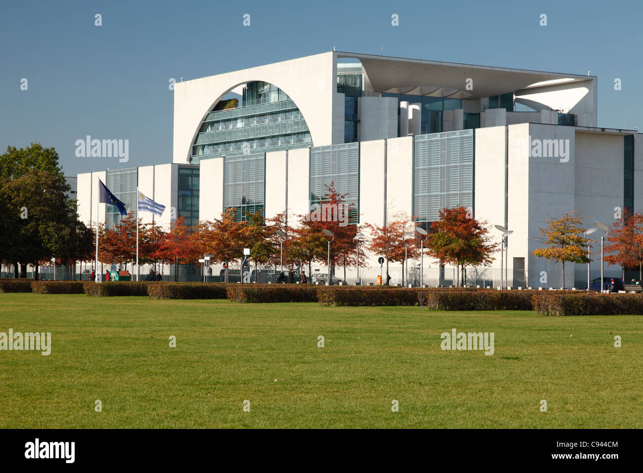 The German Chancellery in Berlin; Bundeskanzleramt in Berlin - Stock Image