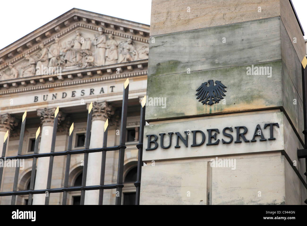 The Prussian House of Lords on Leipziger Straße seat of the German Bundesrat; Bundesrat der BR Deutschland - Stock Image