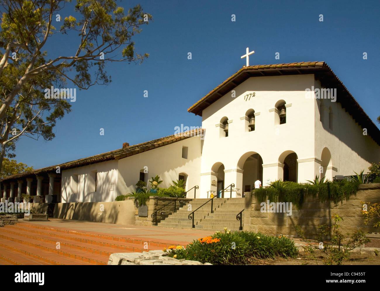 CALIFORNIA - Mission San Luis Obispo de Tolosa in downtown San Luis Obispo. - Stock Image