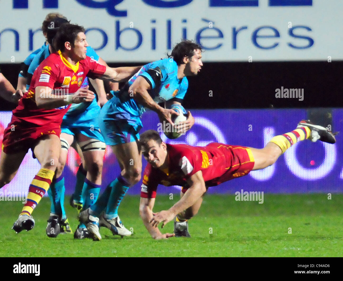 Amiln Challenge Cup, Pool 4: USAP - Exeter Chiefs (Perpignan, 11 Nov 11) - Stock Image