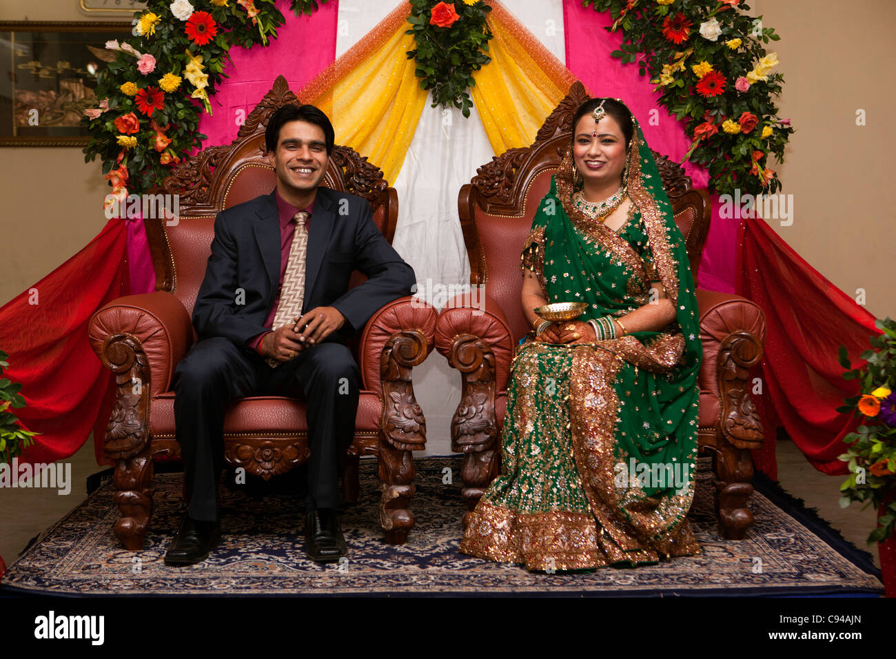 India assam guwahati weddings upper class assamese couple on india assam guwahati weddings upper class assamese couple on dias during evening wedding reception junglespirit Choice Image