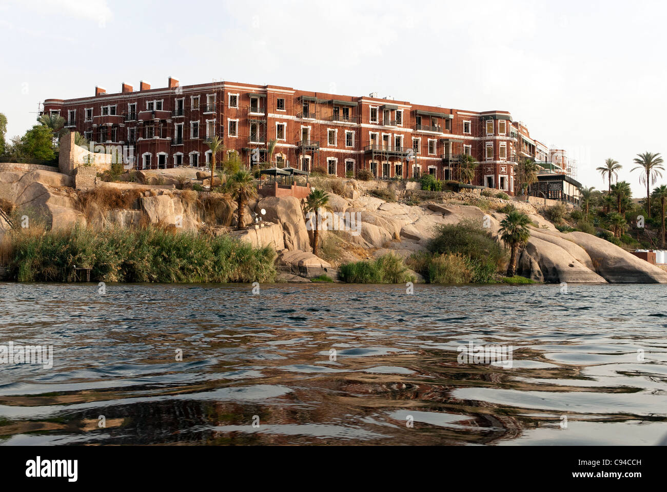 Old Cataract Hotel - Aswan, Upper Egypt - Stock Image