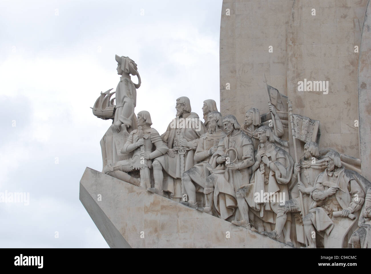 Portugal, Lisbon, Belem district, the Discoveries Monument - Stock Image