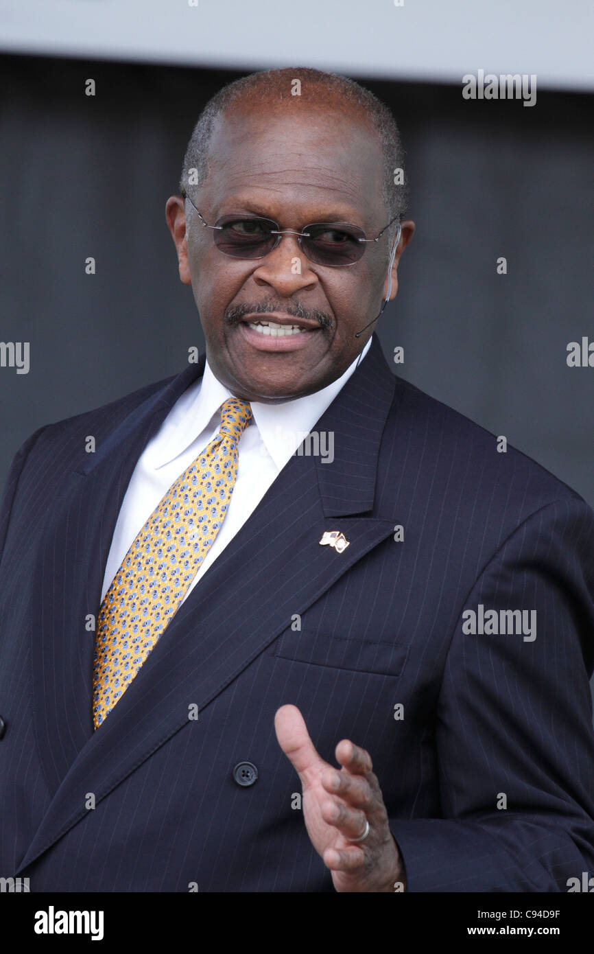 Atlanta, Georgia , USA, 21 may 2011, Herman Cain announces his candidacy in the 2012 election for President of the - Stock Image