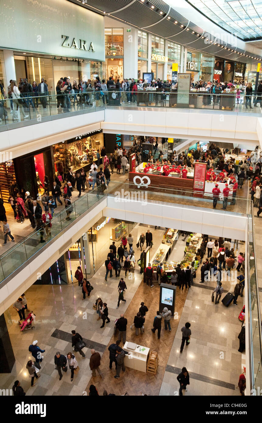 Shoppers in the Westfield shopping centre, Stratford London UK, general scene - Stock Image