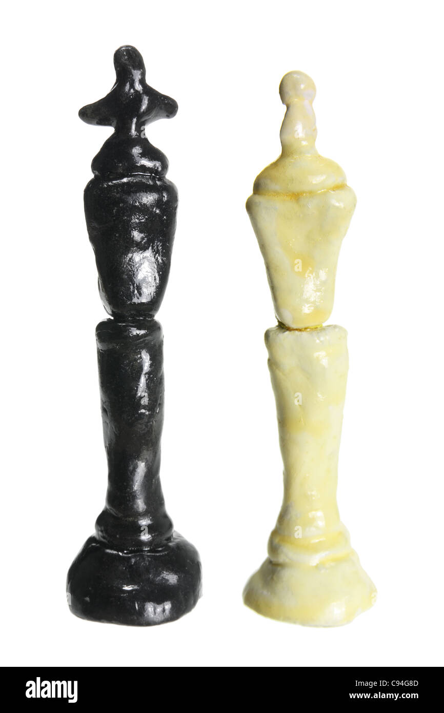 King and Queen Chess Pieces - Stock Image
