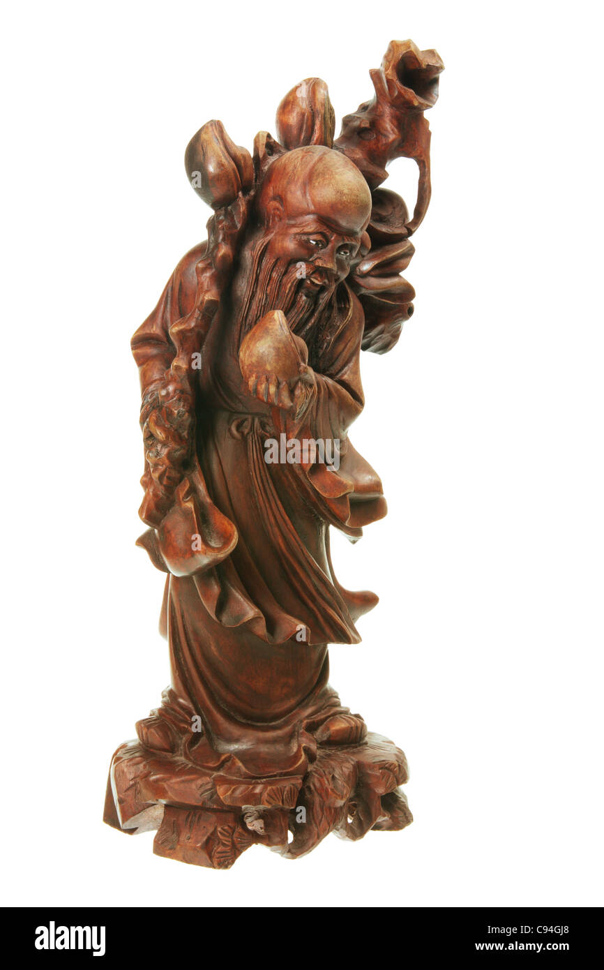 God of Longevity Figurine - Stock Image