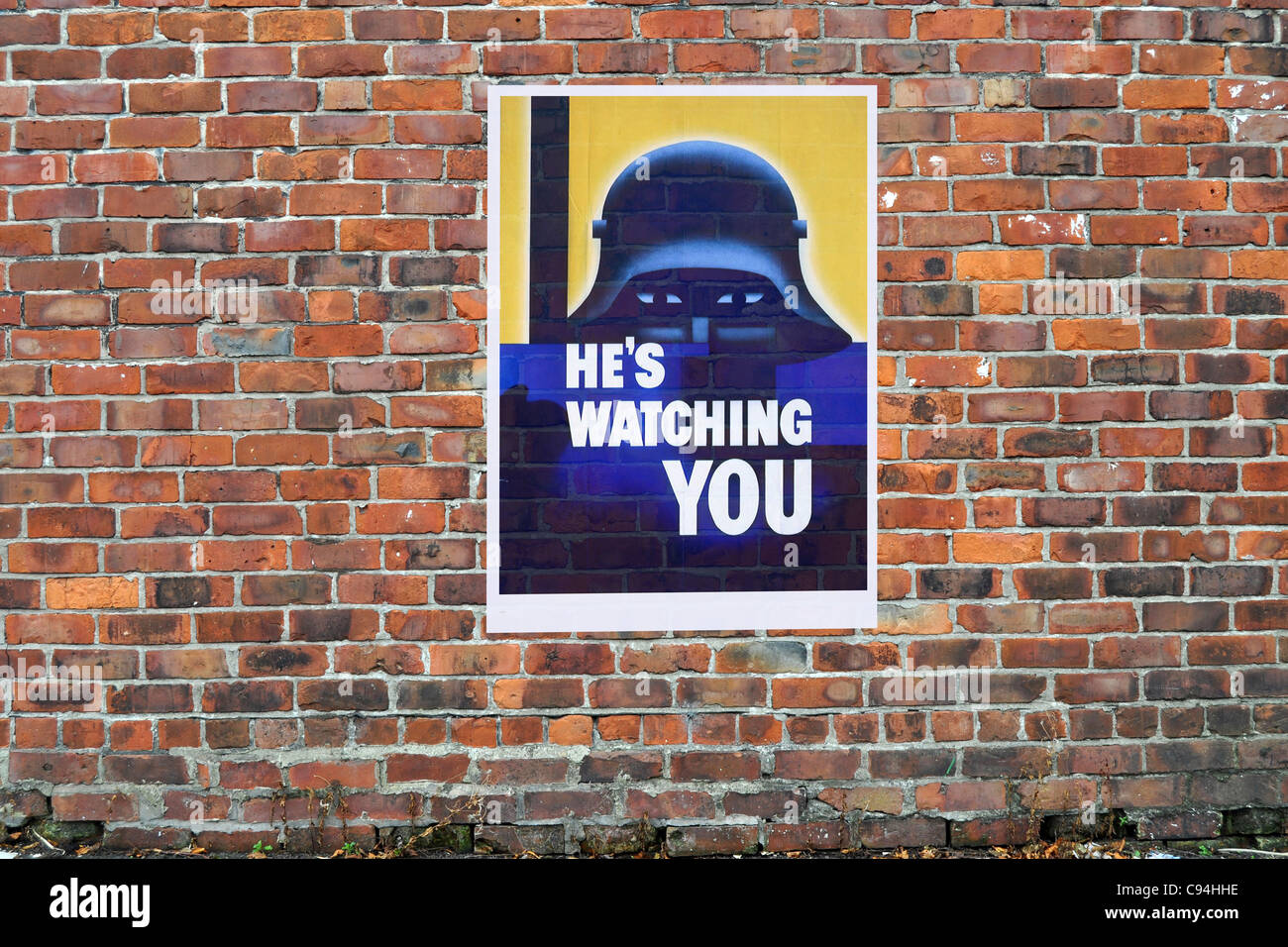 American WW2 Propaganda Poster on a brick wall - Stock Image