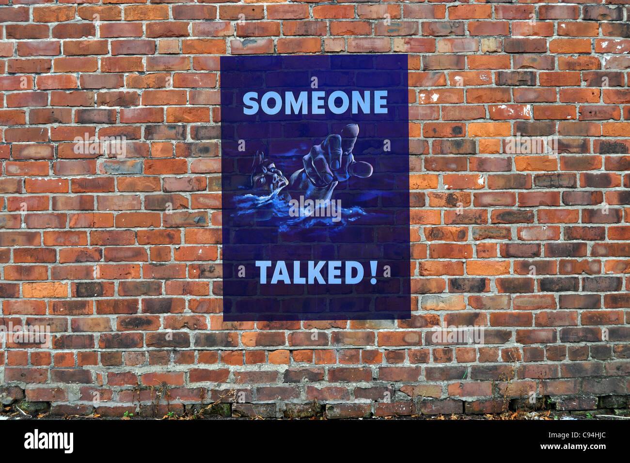 American WW2 Propaganda Poster on a brick wall - Stock Image