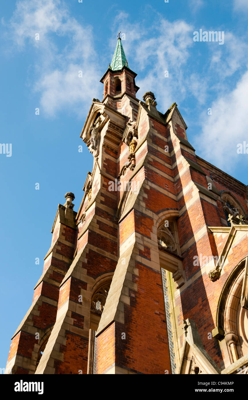 Gorton Monastery or 'The Church and Friary of St Francis'.  E.W. Pugin, 1872.  Gorton, Manchester, England, - Stock Image