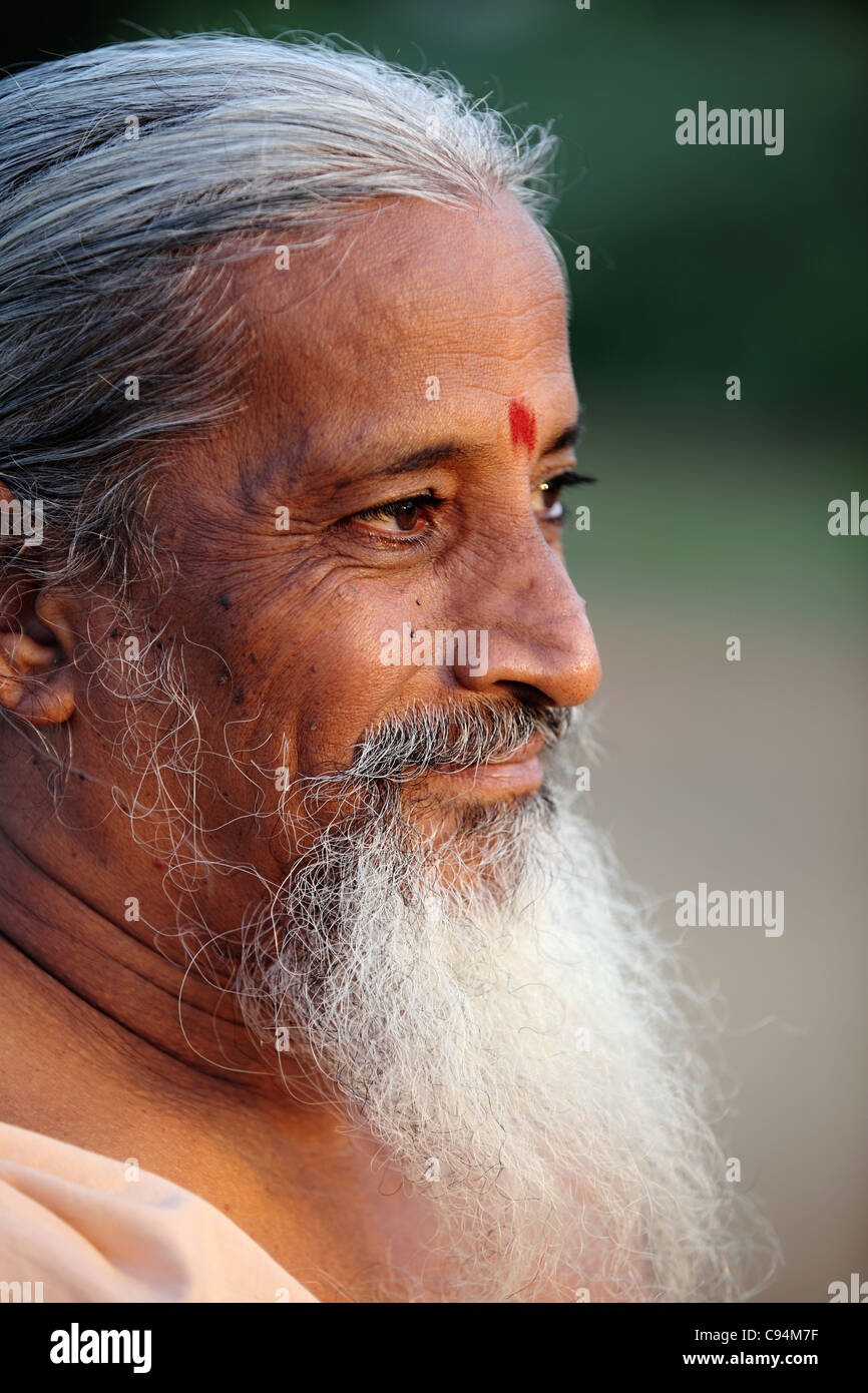 Man sadhu Arunachala South India - Stock Image