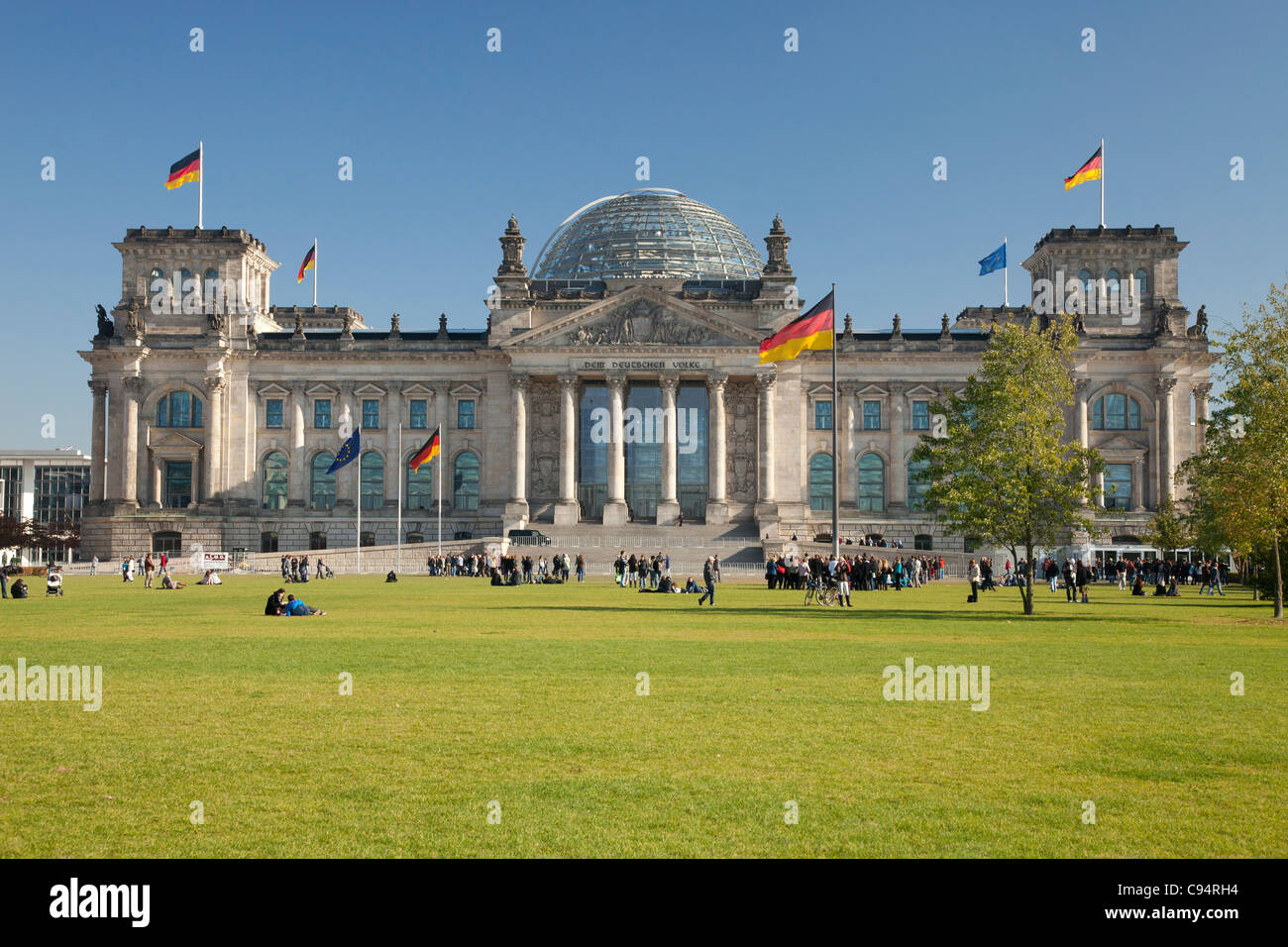 Reichstag in Berlin - Stock Image