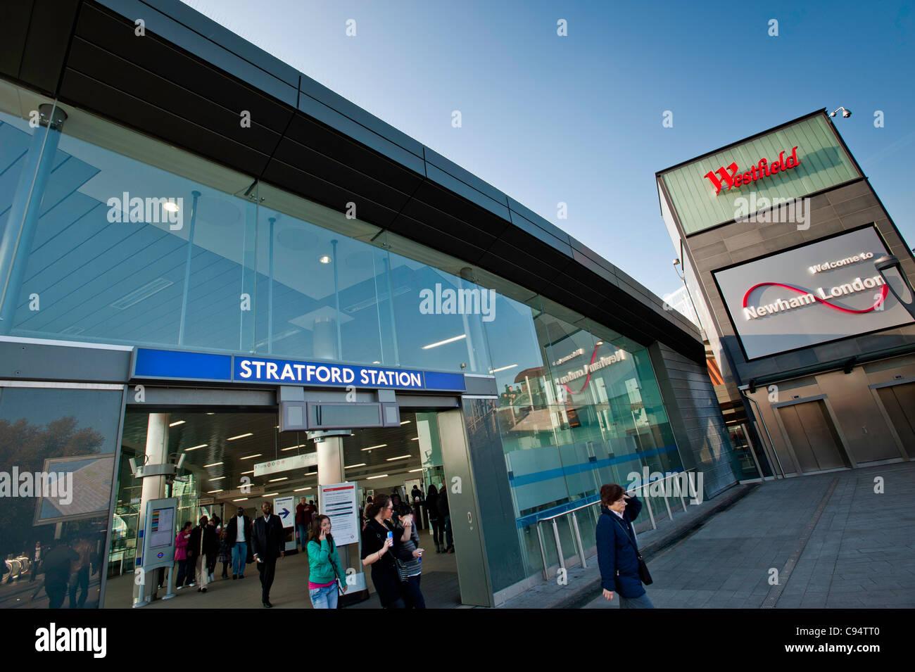 Westfield Stratford City shopping mall, E15, London, United Kingdom Stock Photo