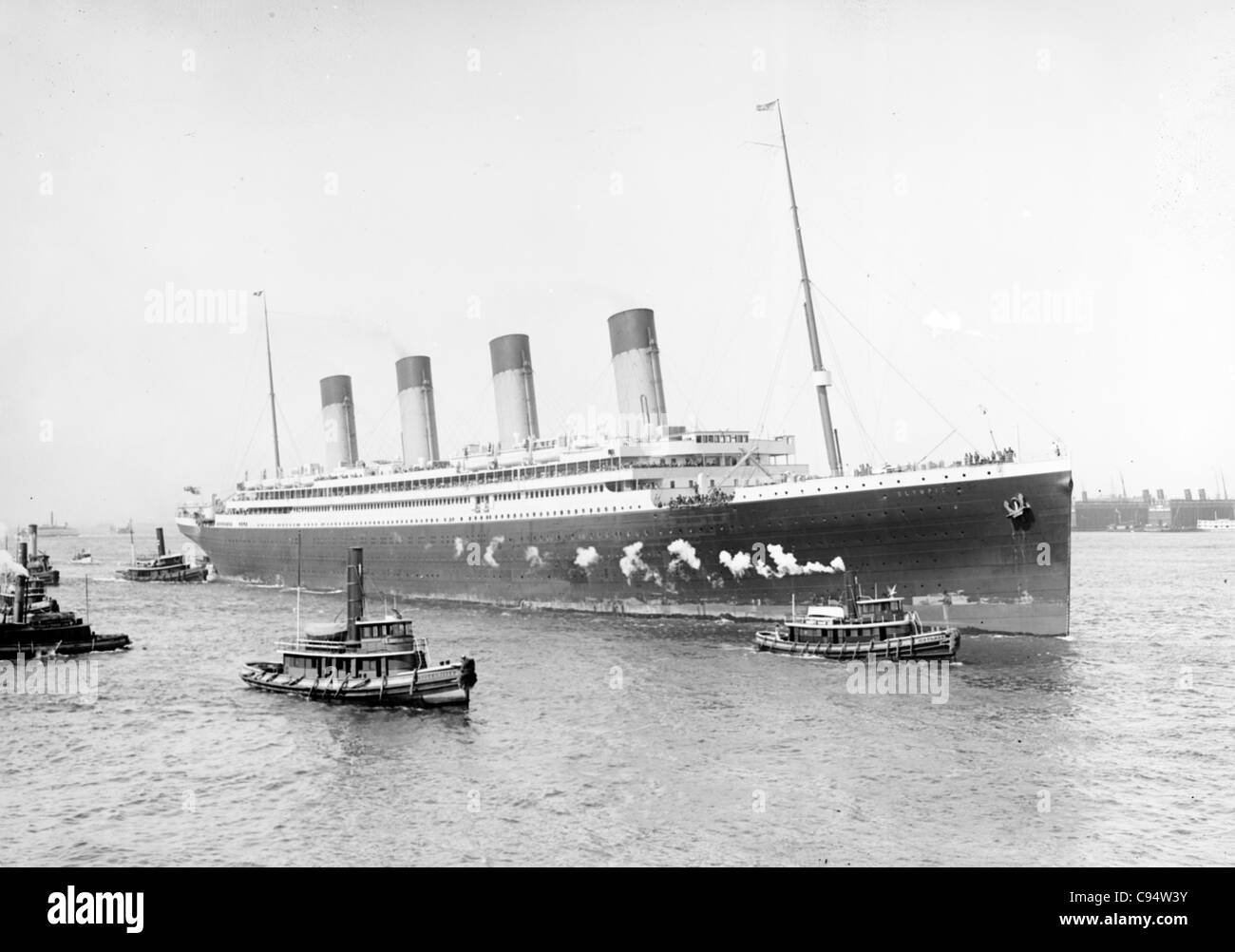 White Star S.S. Olympic - Stock Image