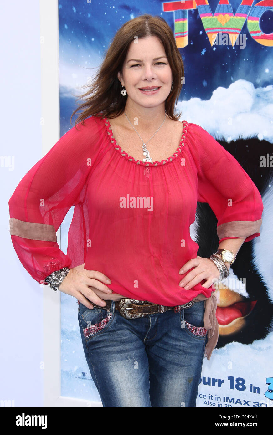 marcia gay harden happy feet two. world premiere hollywood los stock