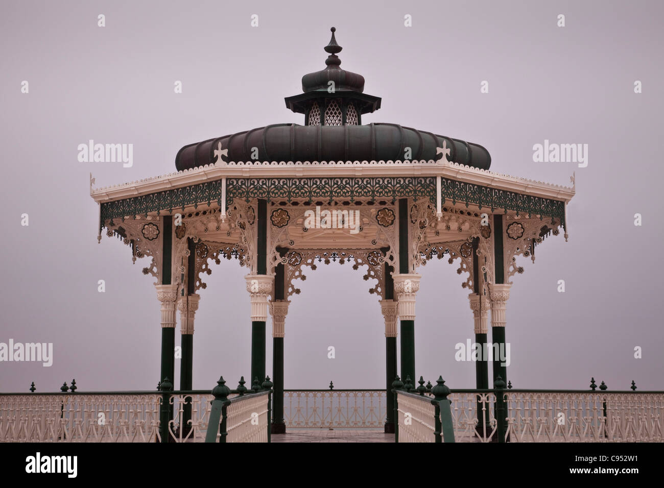 The Victorian Bandstand (recently restored), Brighton, Sussex, England - Stock Image