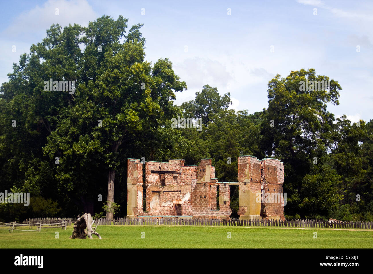 The Ambler Mansion Ruins Jamestown Island Virginia Stock Photo