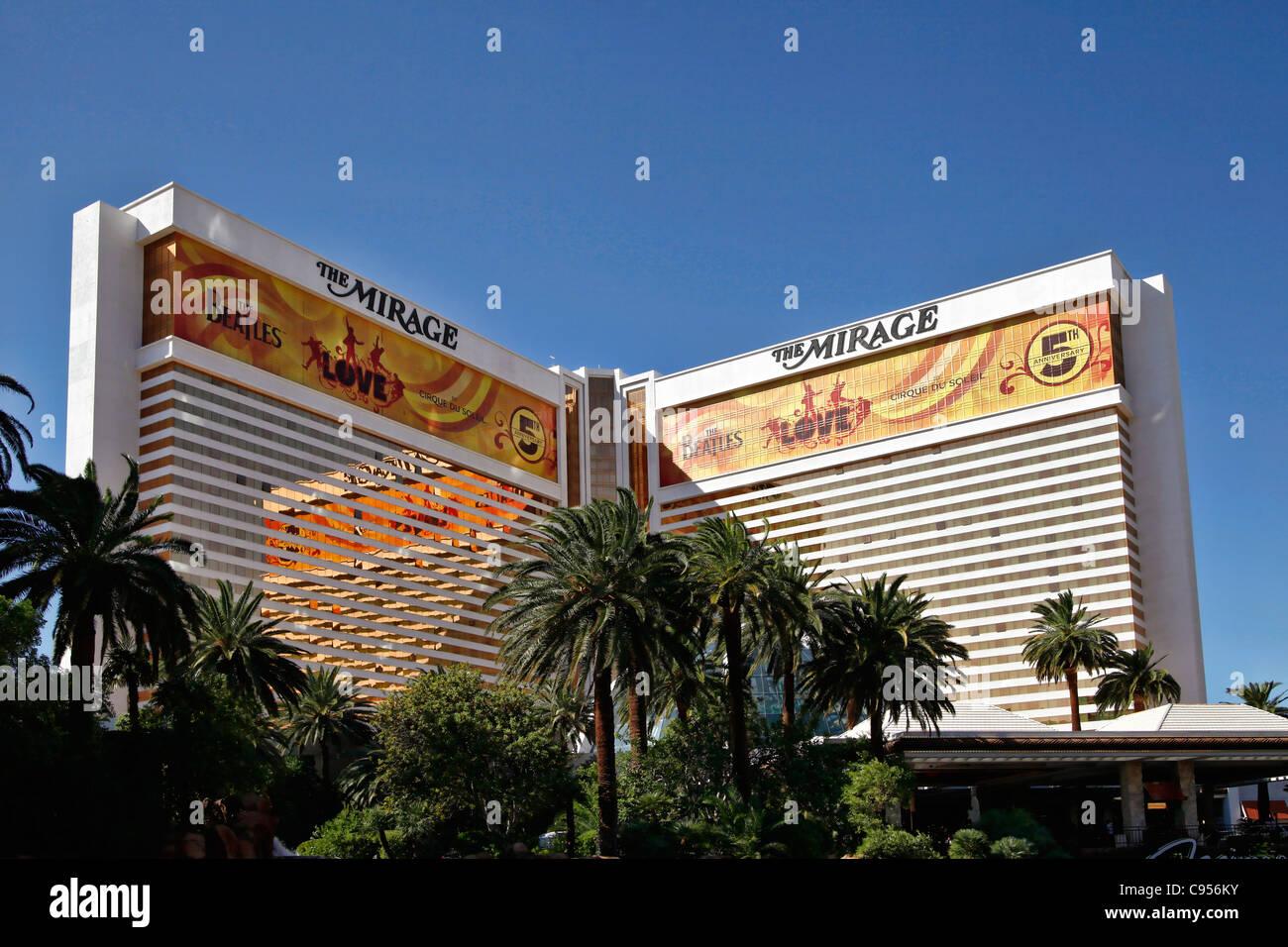 Mirage Hotel, Las Vegas, NV, USA - Stock Image