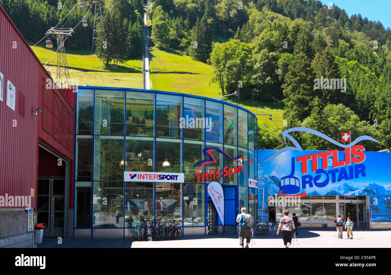 Base Station of the Mount Titlis Cable Car in Engelberg, Switzerland Stock Photo