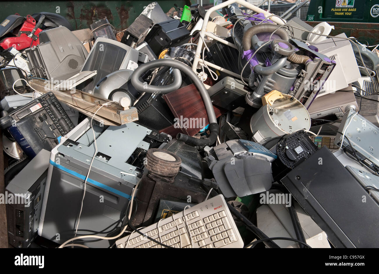 Electronic Scrap Stock Photos Images Alamy Recycle Circuit Boards Concept Of Junk Equipment In A Skip At Recycling Centre The Uk Image