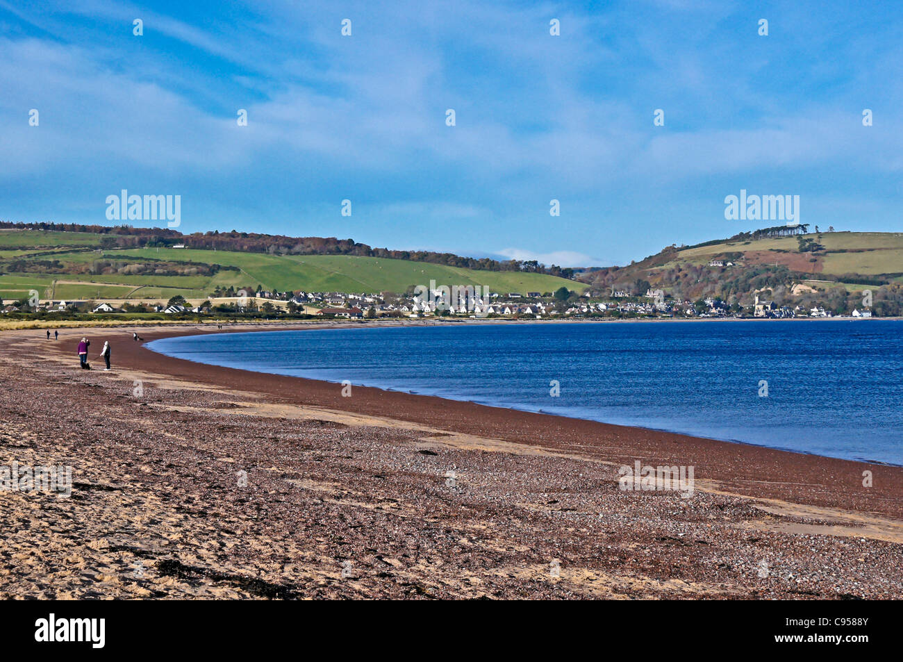 view to Rosemarkie from Chanonry Point near Fortrose on the Black Isle in Scotland - Stock Image
