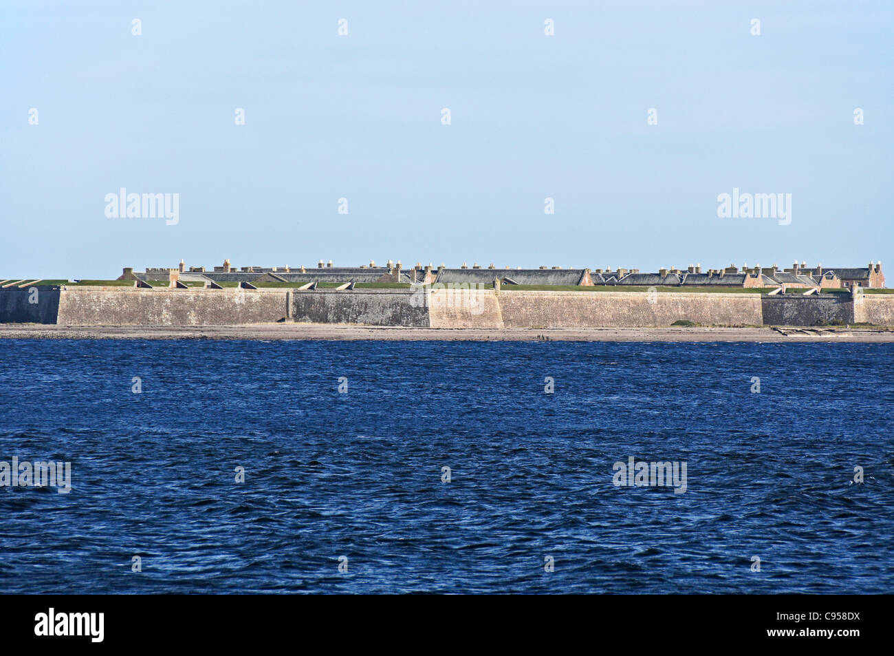Fort George in Moray  viewed from Chanonry Point near Fortrose The Black Isle Scotland - Stock Image