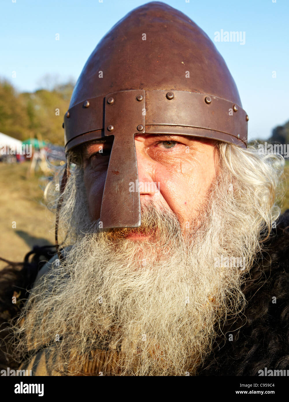 Irish Warrior Battle East Sussex UK - Stock Image