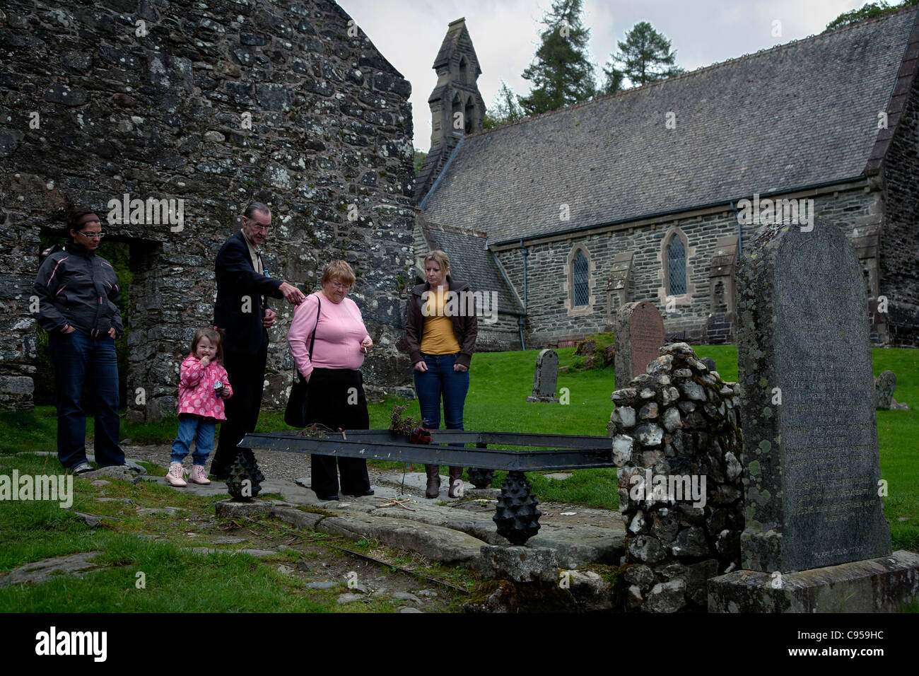 the grave of rob roy macgregor in perthshire scotland Stock Photo