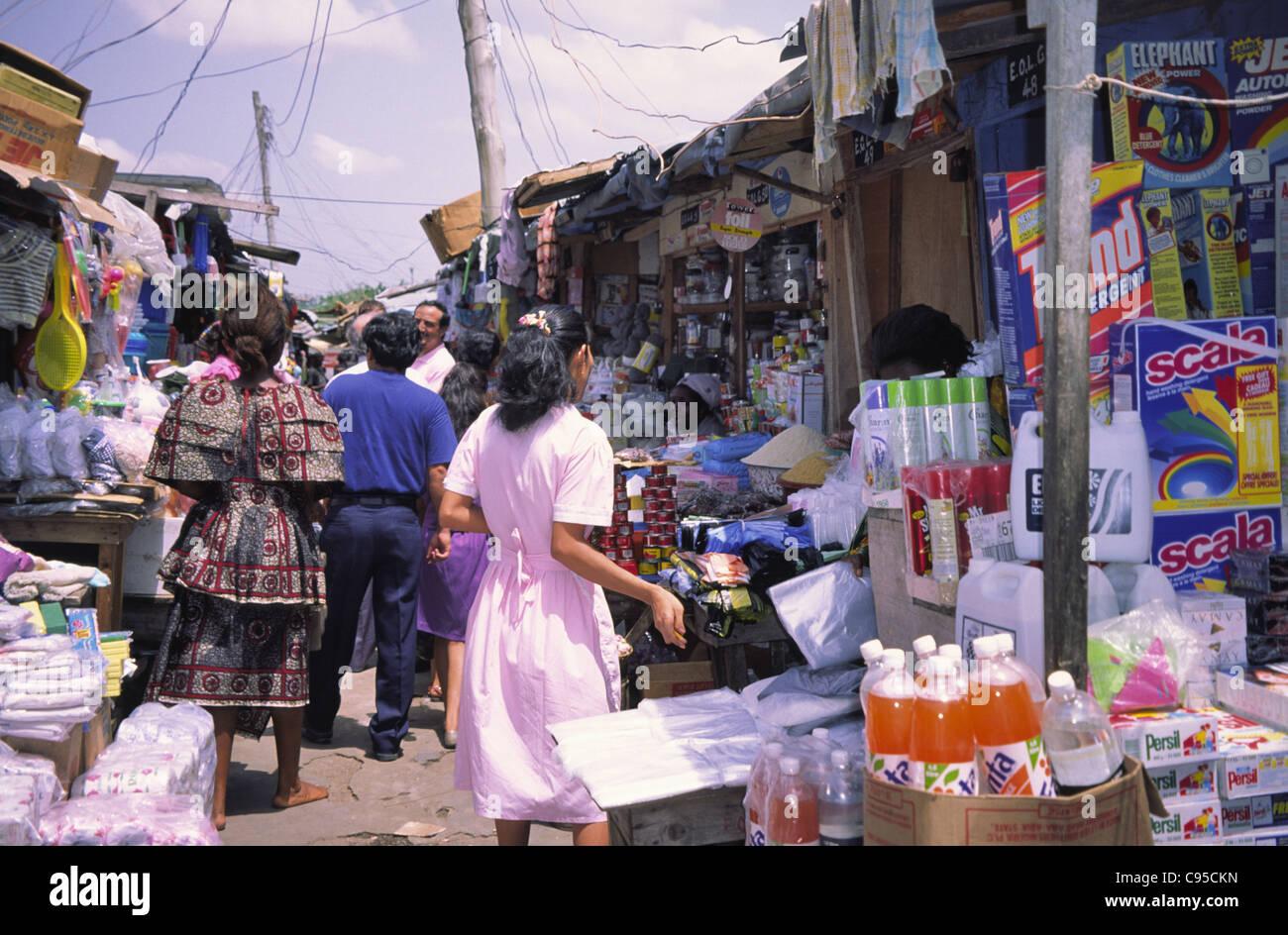Lagos Market, Nigeria. - Stock Image