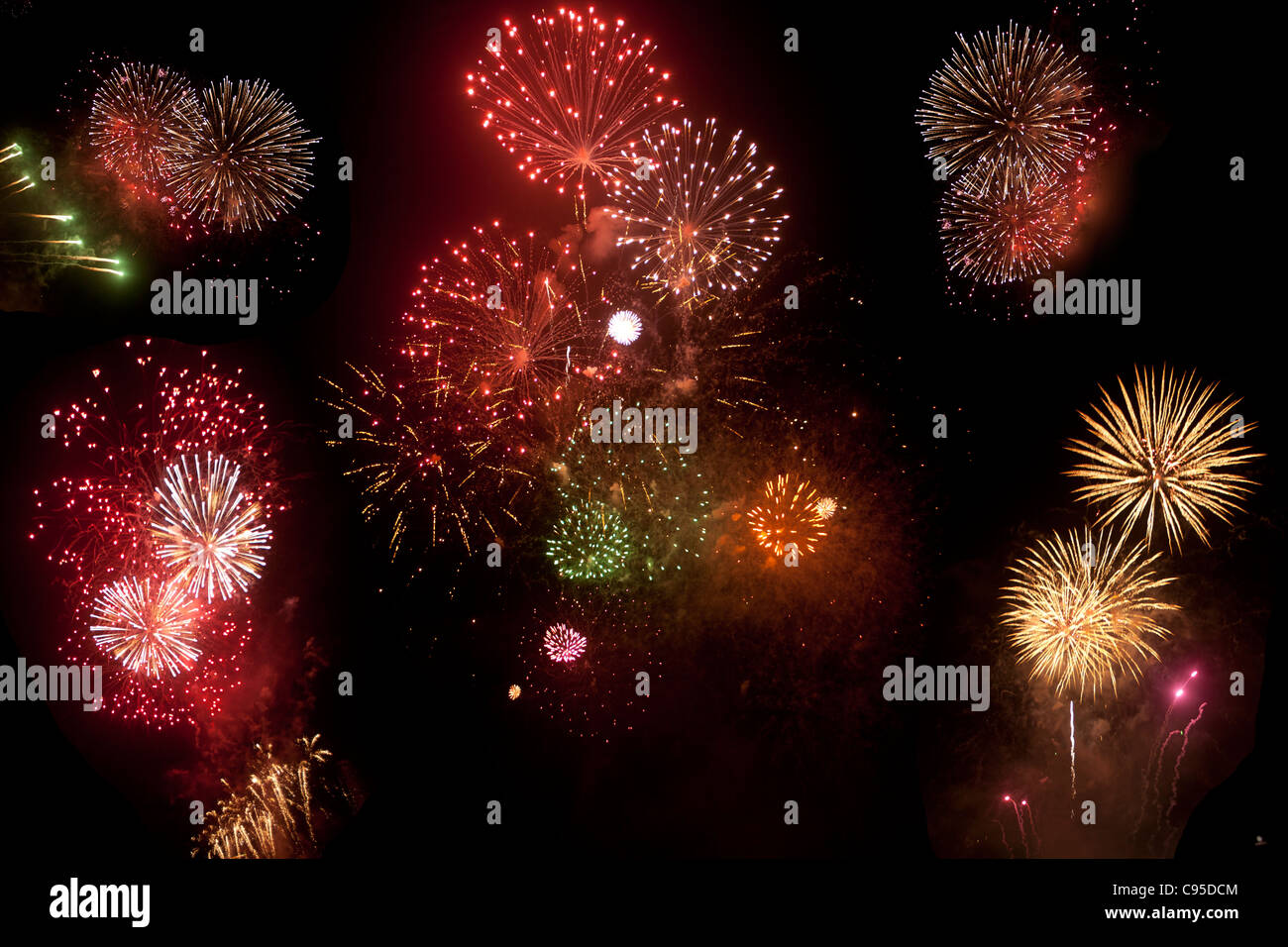 Fireworks in Singapore - Stock Image
