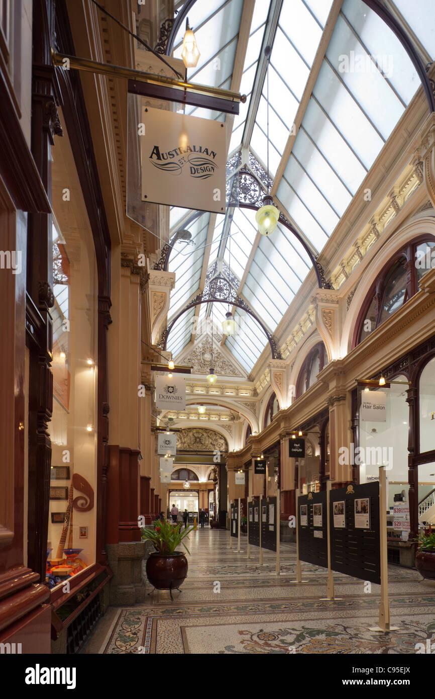 Block Arcade, Melbourne, Australia - Stock Image