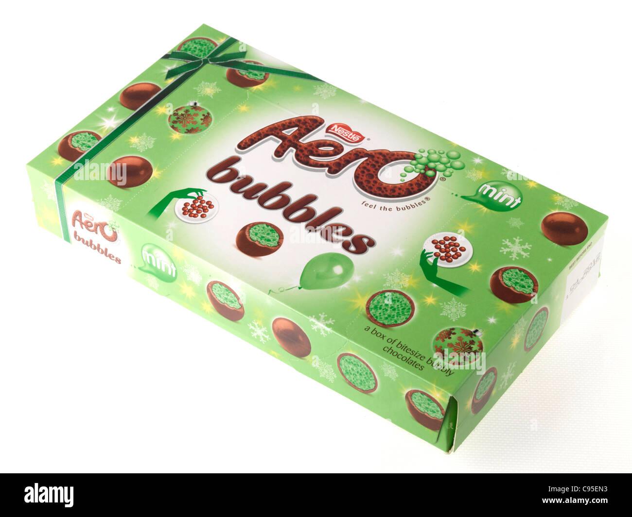 Box of Aero Mint Bubbles - Stock Image