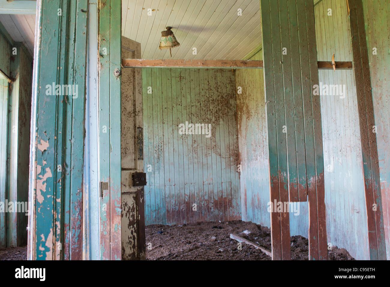 Building, Croft House, Abandoned, Interior, - Stock Image