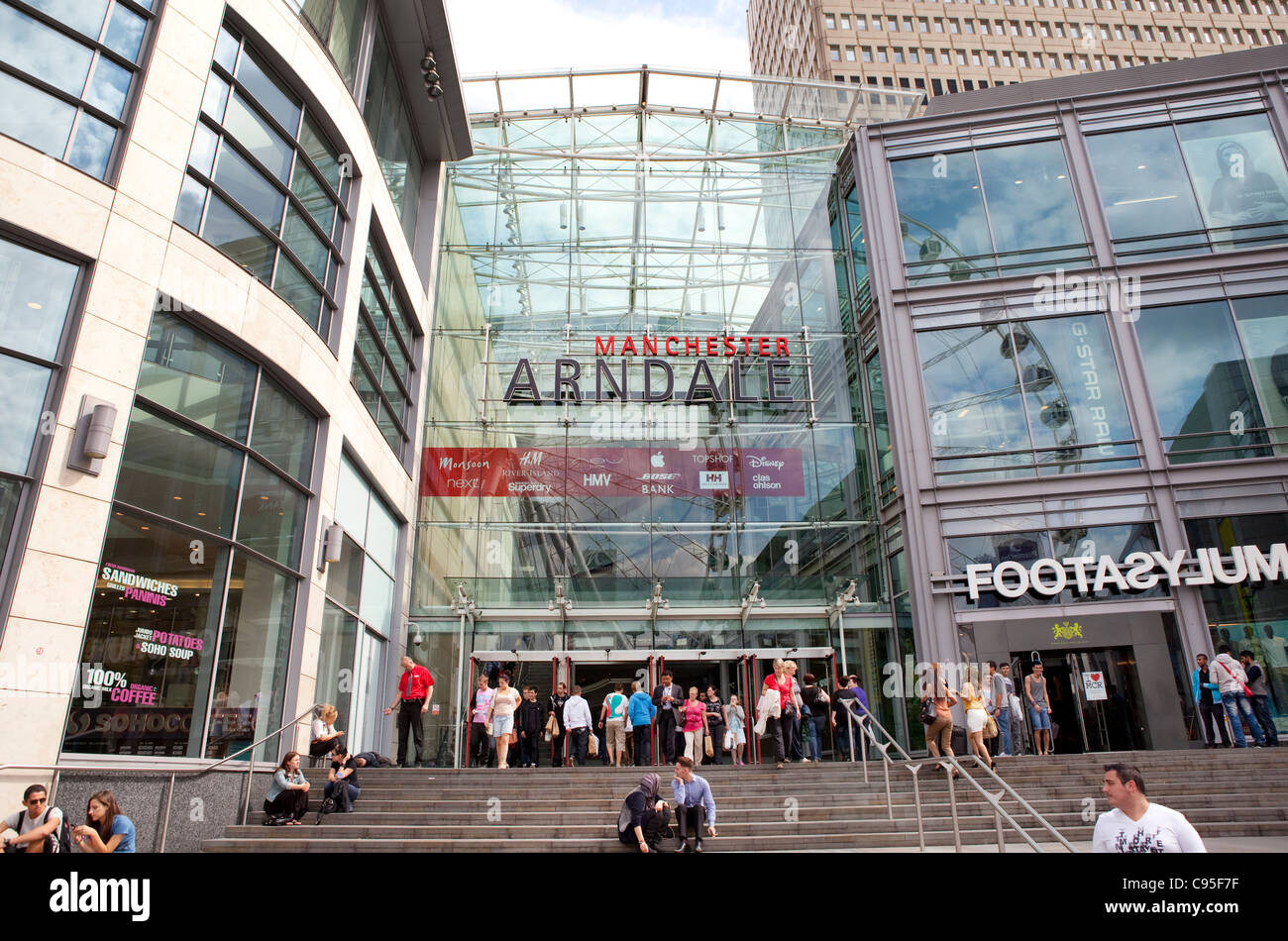 The Arndale Centre in Manchester, UK - Stock Image