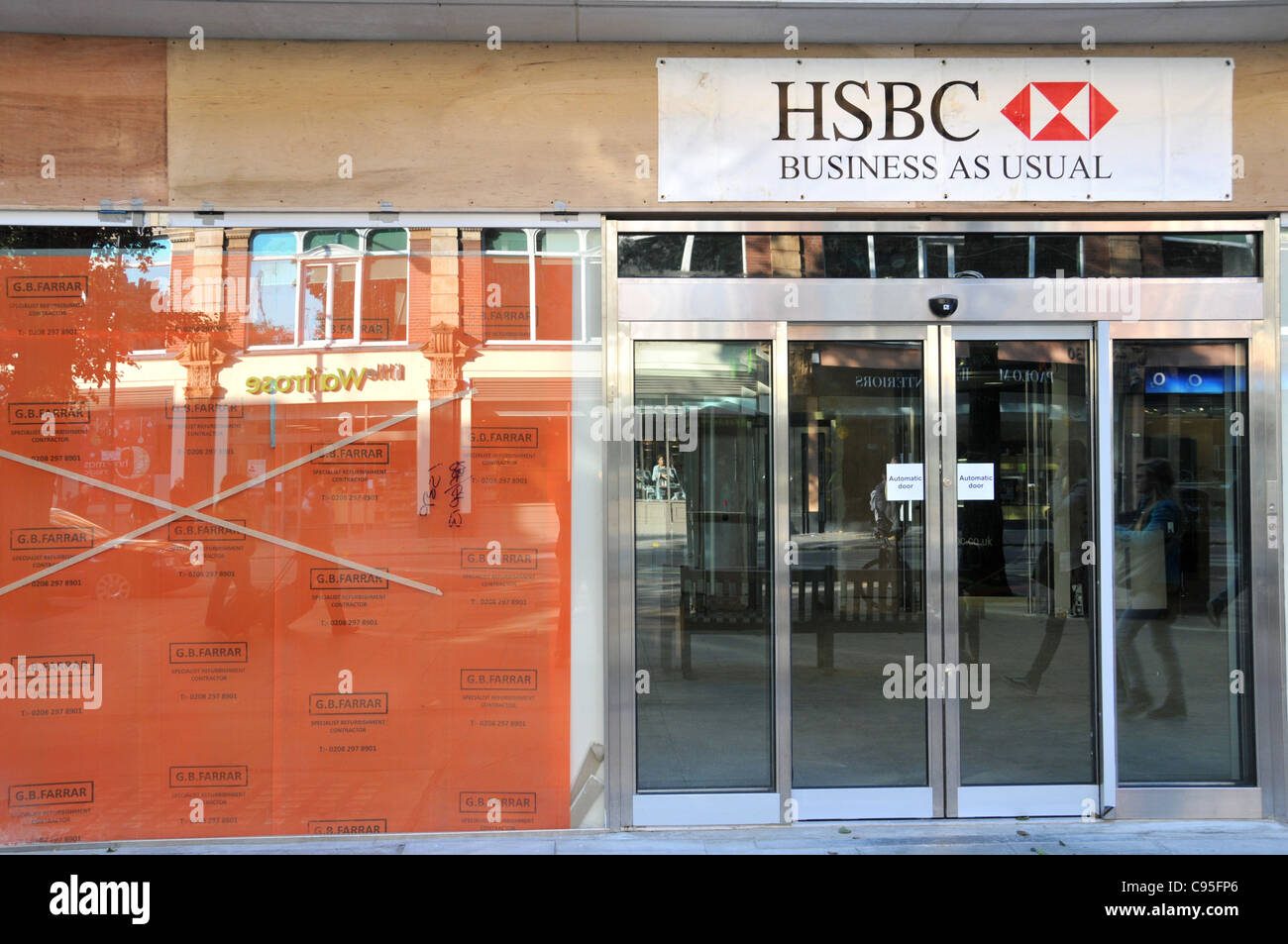 HSBC bank business as usual banking recession slowdown